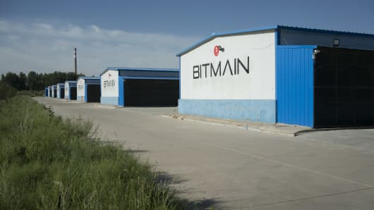 Bitcoin farms at the Bitmain China facility, which issues over $300,000 in digital currency a day, in Dalad Banner, Inner Mongolia, China, Aug. 12, 2017.