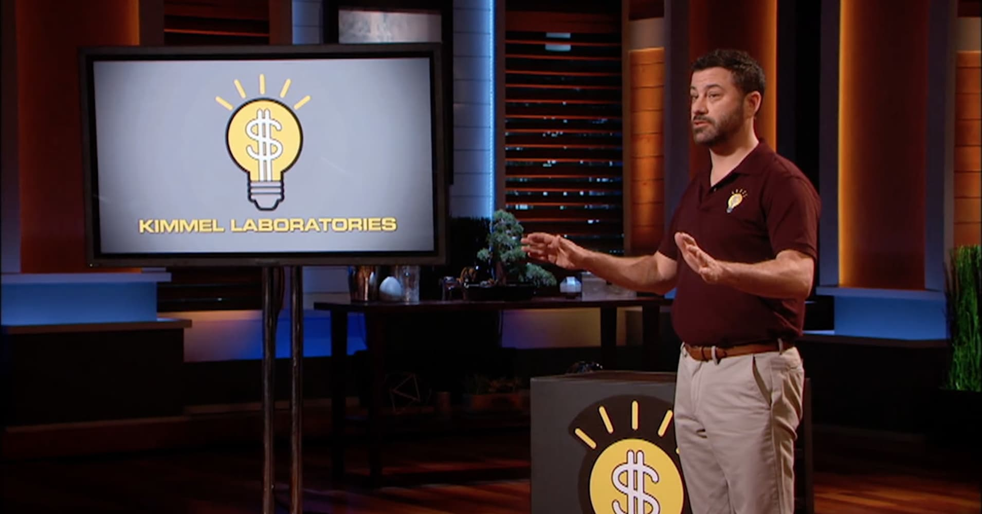 "a23decf0652 Shark Tank Jimmy Kimmel pitches a hilarious way to keep his child ""safe"""
