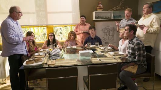 "The Dunphy-Pritchett-Tucker clan reunites on ABC'S ""Modern Family."""