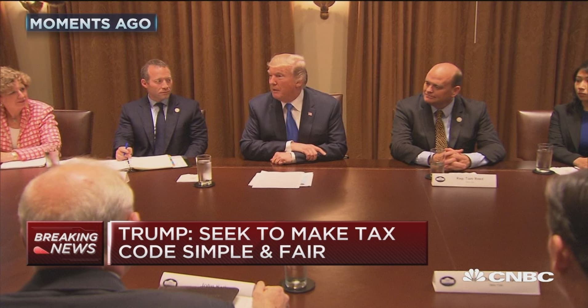 Trump says tax reform will not help the rich at all