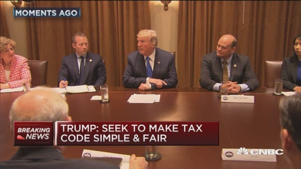 Trump on tax reform: We want a 15 percent corporate tax rate