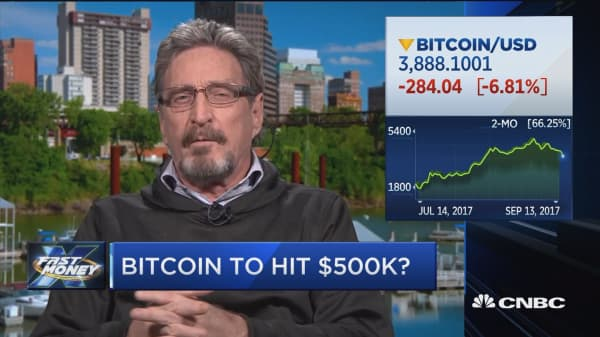 John McAfee makes the case for why bitcoin is headed to $500K