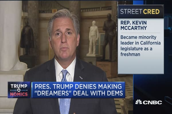 Rep. Kevin McCarthy: DACA has to be fixed but our borders are not secure