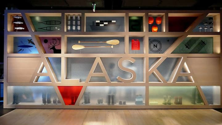 The new 'Alaska' exhibition at the Anchorage Museum opened Sept 15 and displays more than 400 objects.