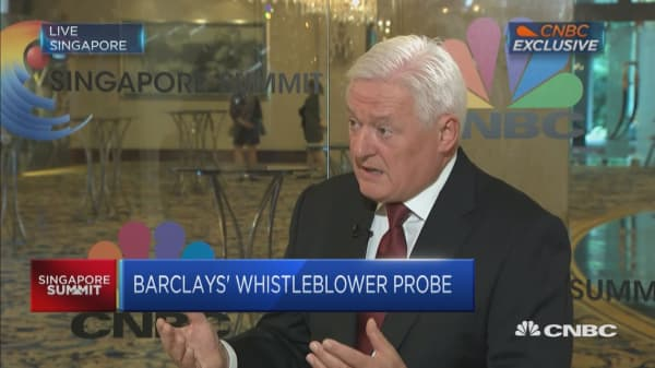 We were surprised by whistleblowing probe: Barclays chairman