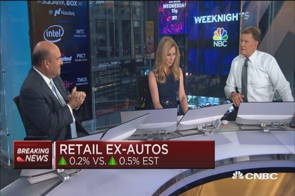 August retail sales sales down 0.2% vs. up 0.2 est.