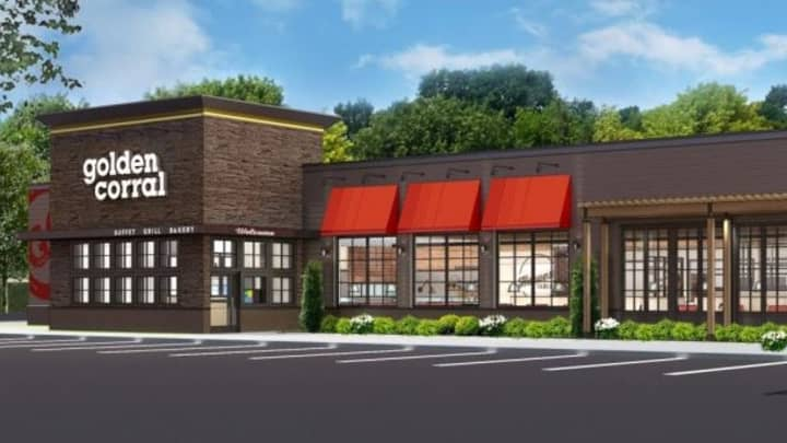 Mock up of new Golden Corral exterior