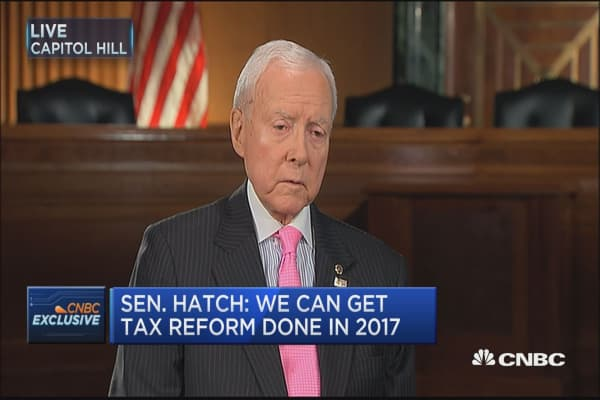 Sen. Orrin Hatch: Doubt we'll be able to get 15% corporate tax rate