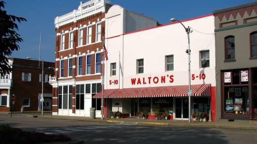 Sam Walton's original Bentonville variety store.