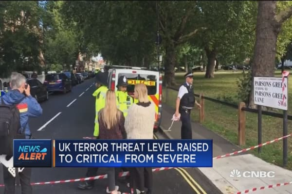UK terror threat level raised to critical from severe