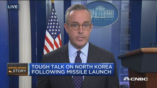 Tough talk on North Korea following missile launch