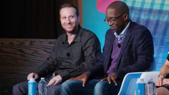 On-Air Talent CBS WFAN Evan Roberts and Sportscaster Entercom Communications - WEEI FM Boston Michael Holley.
