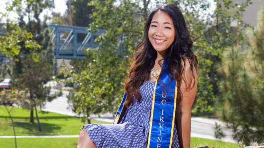 Decerry Donato, a recent UC Irvine graduate.