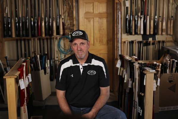 Paul Lancisi, founder of Dove Tail Bats.