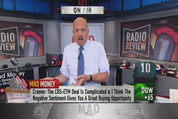 Cramer: Why the market is totally wrong about the CBS-Entercom merger