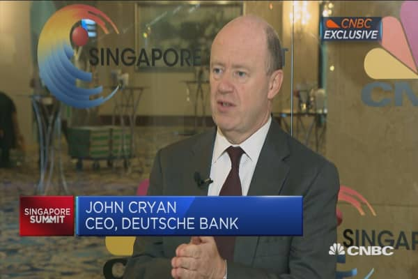 Actual volatility higher, Deutsche Bank CEO says