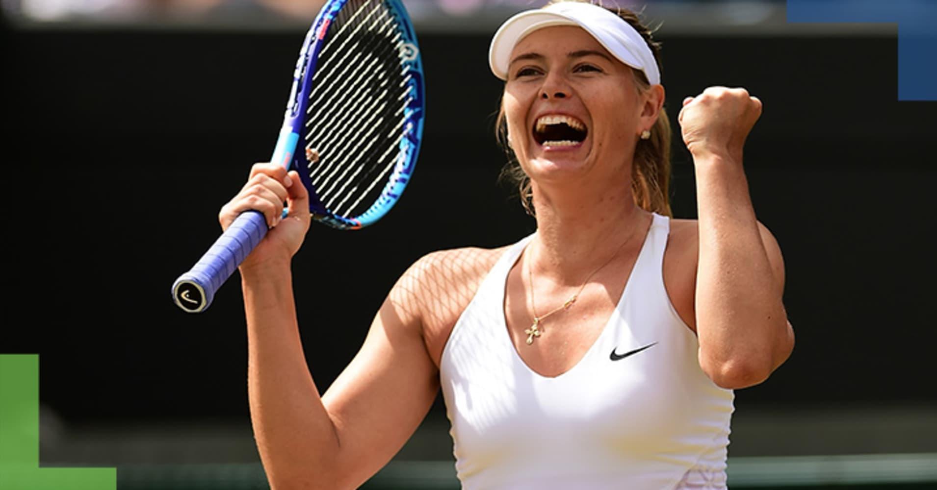 Grand Slamp champion Maria Sharapova