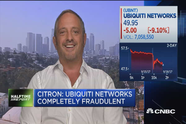 Citron: Ubiquiti Networks is 'completely fradulent'