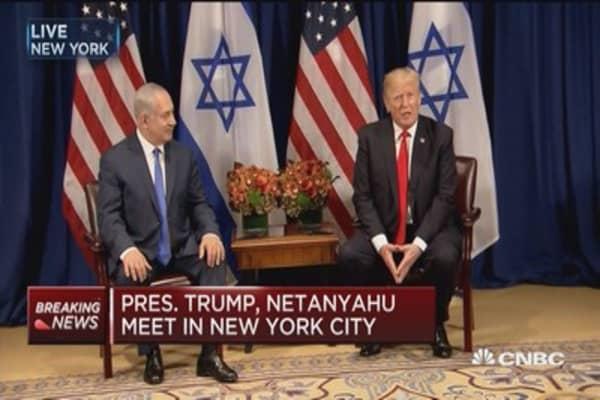 Trump: Working hard on seeking peace in Middle East