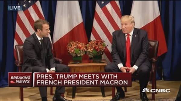 Trump: Macron is doing a terrific job in France
