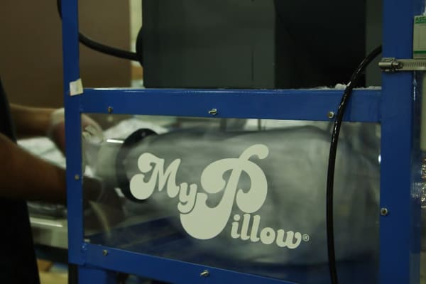 MyPillow pillow-making machine in Chaska, Minnesota