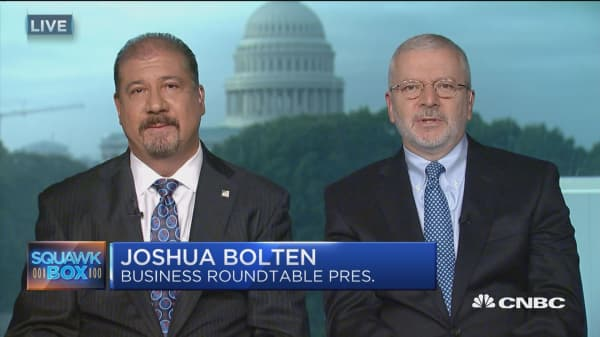 Studies show 75% of corporate tax burden born by wage earner: Business Roundtable's Josh Bolten