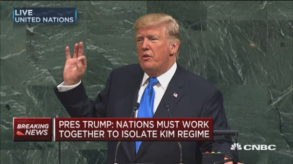 Trump: US bears an unfair cost burden in the UN