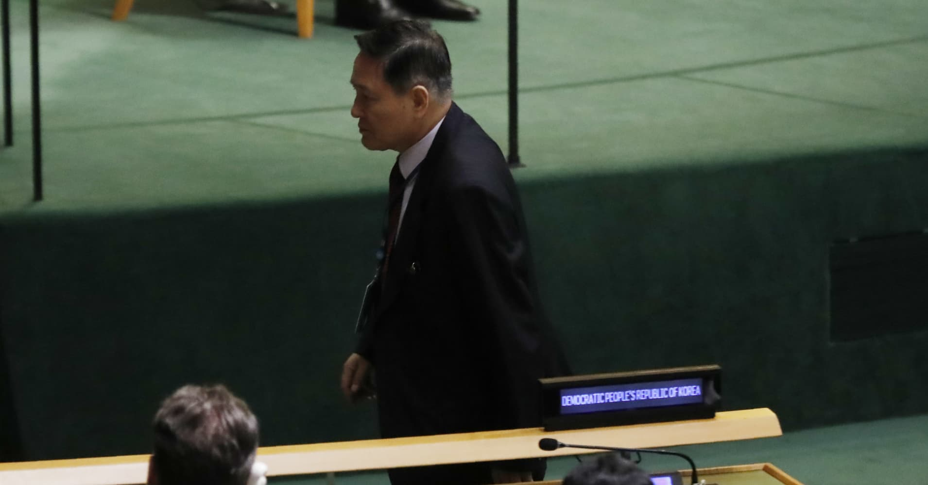 North Korea ambassador walked out of UN assembly in boycott of Trump's speech