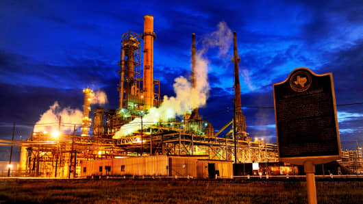 A file photo of the Valero refinery in Port Arthur, Texas.