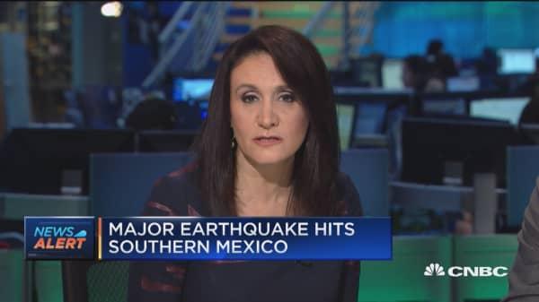 Major earthquake hits Southern Mexico