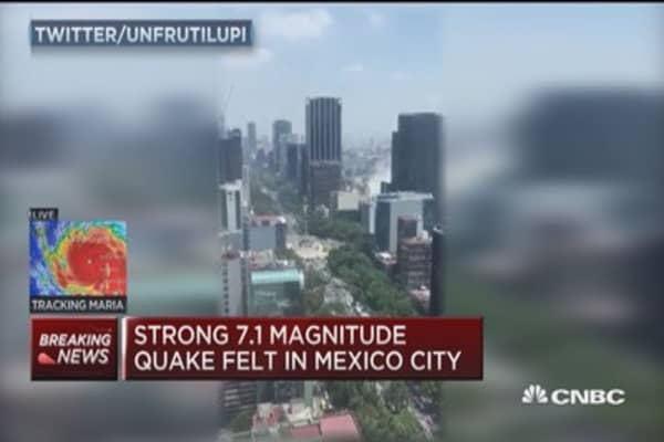 Strong 7.1 magnitude earthquake felt in Mexico City