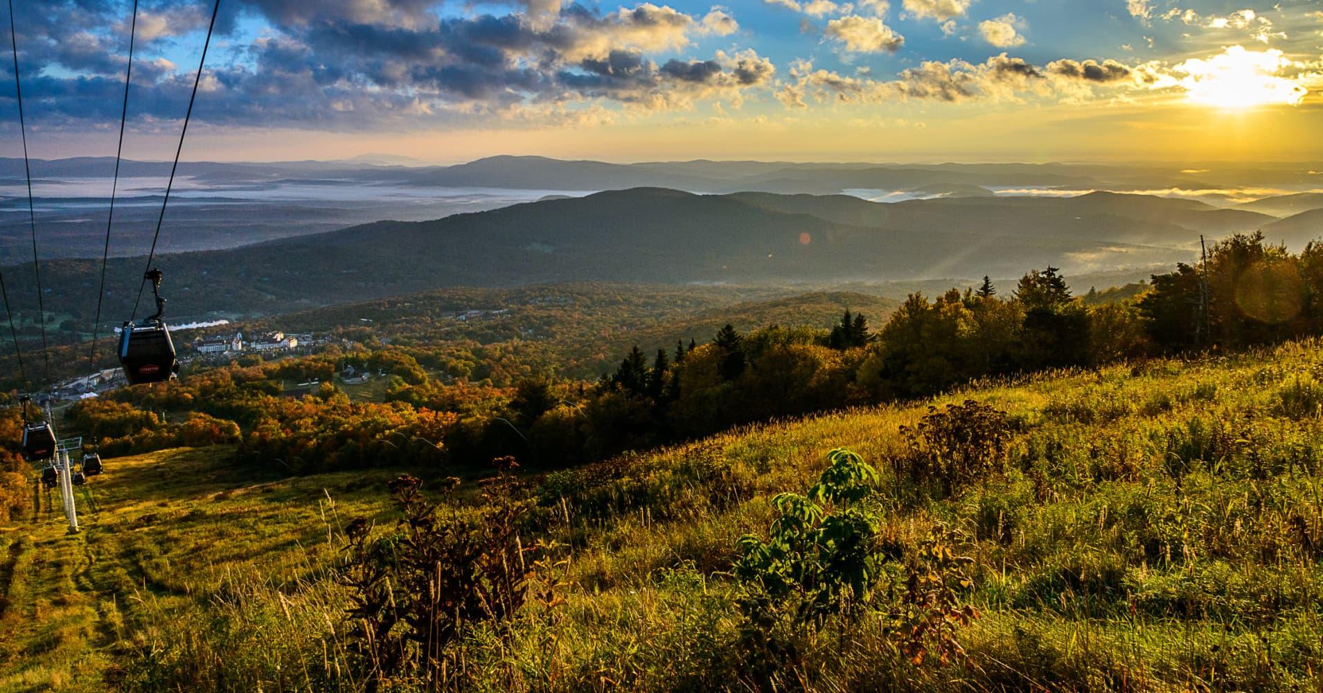 Fall sunrise on Stratton Mountain.