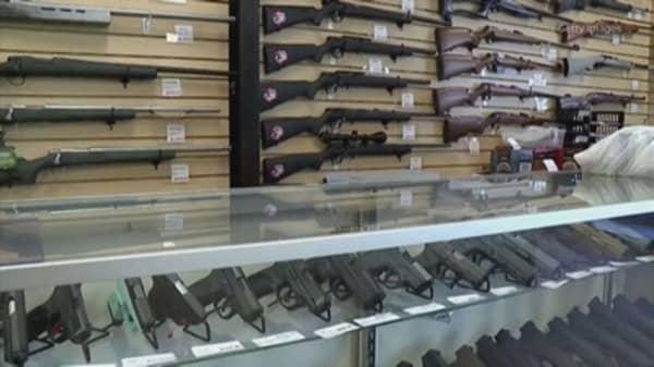 Gun stocks surge after Reuters report