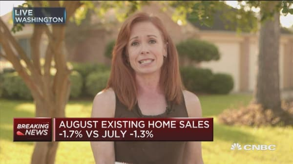 August existing home sales down 1.7%