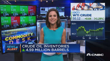 Crude oil inventories up 4.59 million barrels