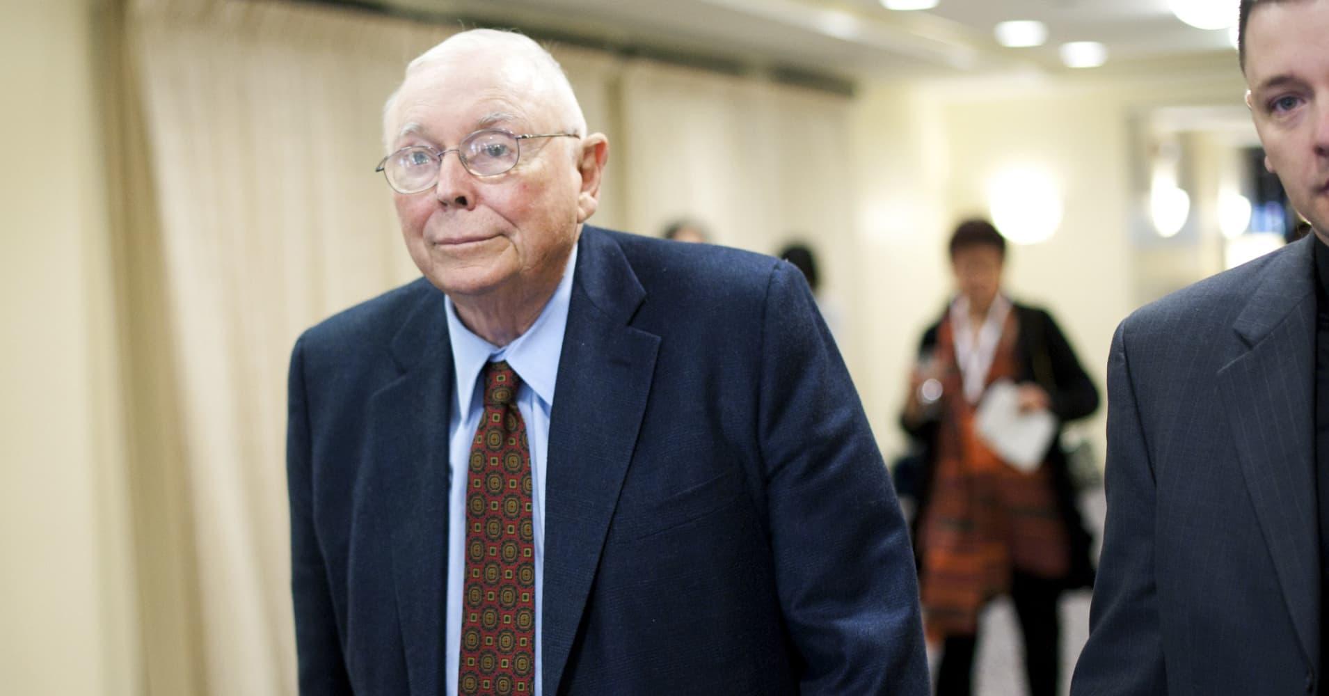 Charles Munger, vice chairman of Berkshire Hathaway