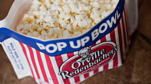 A bag of ConAgra Foods' Orville Redenbacher's brand popping corn.