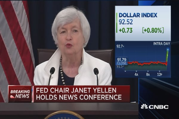 Yellen: Expecting economy to expand at a moderate pace.