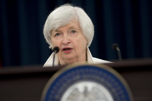 Federal Reserve Chair Janet Yellen speaks during a press conference after the Federal Open Market Committee meetings in Washington, DC, on September 20, 2017.