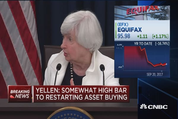 Yellen: Equifax data breach was very serious