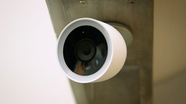 Nest Cam IQ Outdoor on display in San Francisco