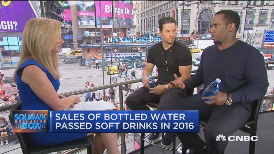 Sean Combs and Mark Wahlberg wade into water venture