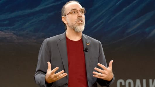 Scientist Dr. Astro Teller speaks speaks at Goalkeepers 2017, at Jazz at Lincoln Center on September 20, 2017 in New York City.