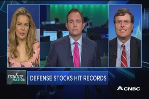 Trading Nation: Defense stocks hit records