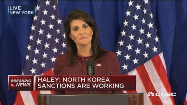 UN Amb. Haley: North Korea is already feeling impact of sanctions