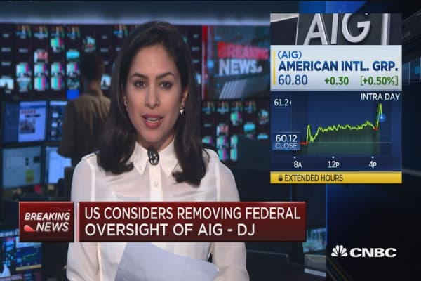 US considers removing federal oversight of AIG