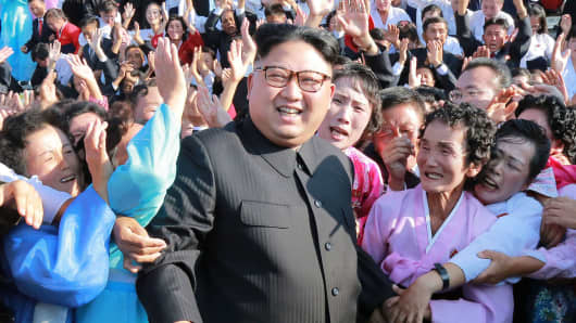 Image result for Kim Jong Un, celebrating with General, photos
