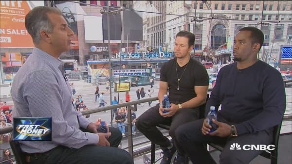 """Sean """"P. Diddy"""" Combs and Mark Wahlberg make their Fast Money debut"""