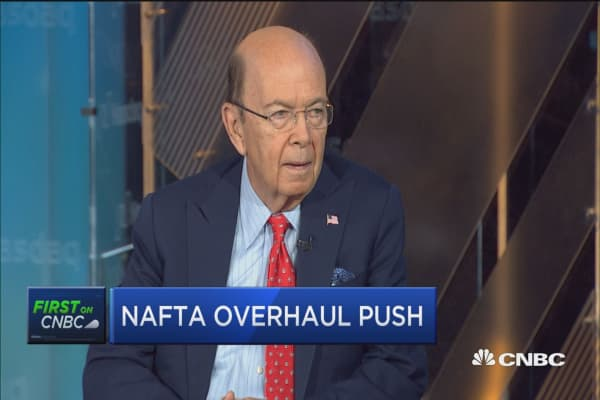 Wilbur Ross: Autos and auto parts more than 100% of trade decicit