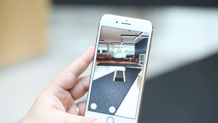 Placing furniture with the IKEA AR app
